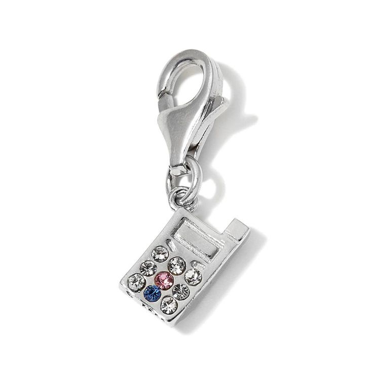 Charming Silver Inspirations Sterling Silver Cell Phone Clasp Charm