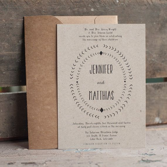 133 best images about rustic wedding invitations on pinterest, Wedding invitations