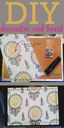 DIY decorative fabric cork board-- SO easy and SO cheap!