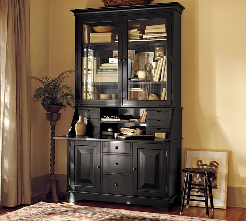 I have always wanted a secretary desk.  I like it with and without the hutch.
