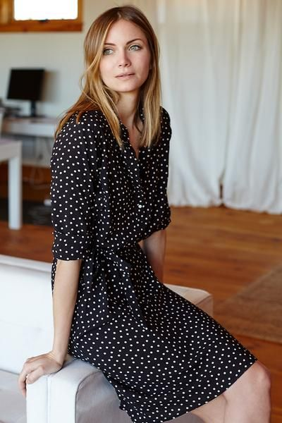 Shirtdress - Dot | Emerson Fry Must. Find. Perfect. Polka dot shirt dress.
