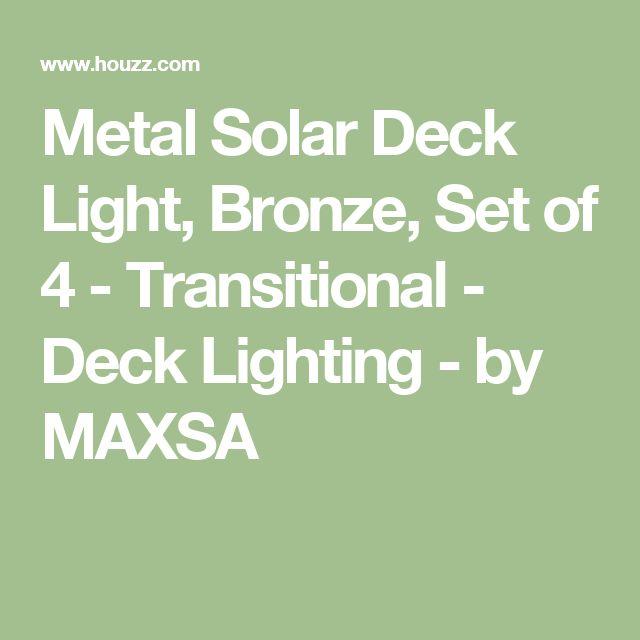 Metal Solar Deck Light, Bronze, Set of 4 - Transitional - Deck Lighting - by MAXSA