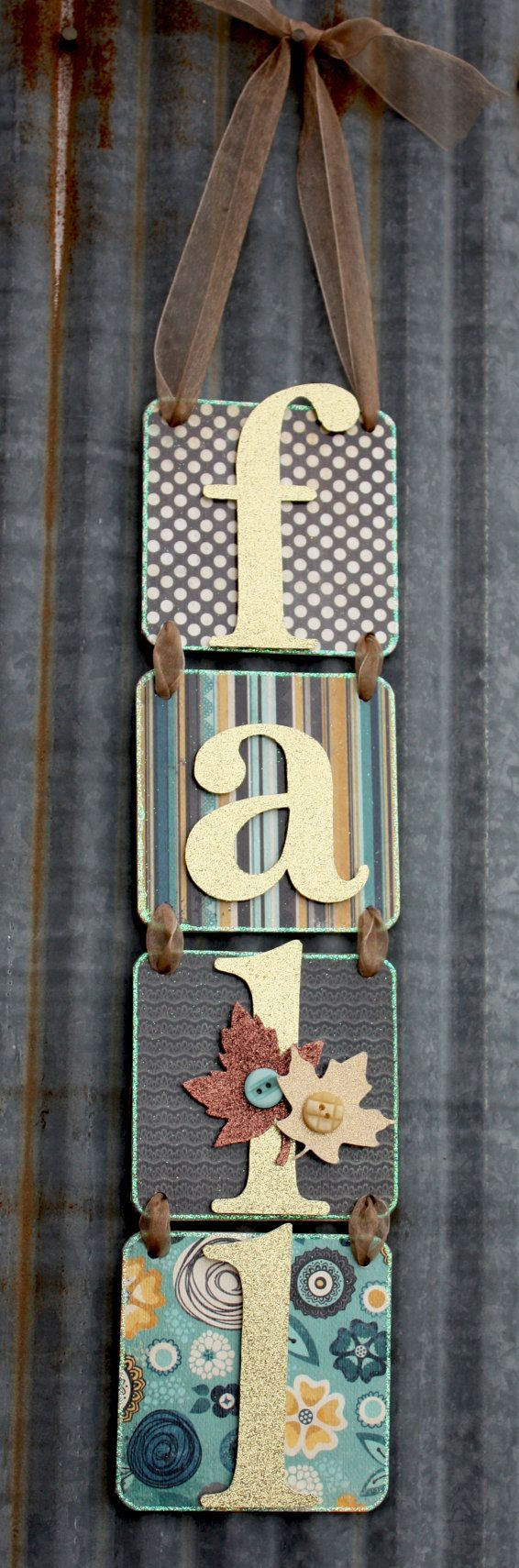 fall craft. Door or wall hanging