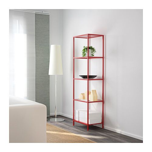 Vittsj 214 Shelf Unit White Glass Glass Shelves Living