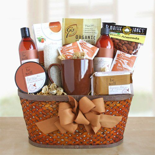 Relax and Rejuvenate Autumn Theme Organic Spa Gift Basket for Her