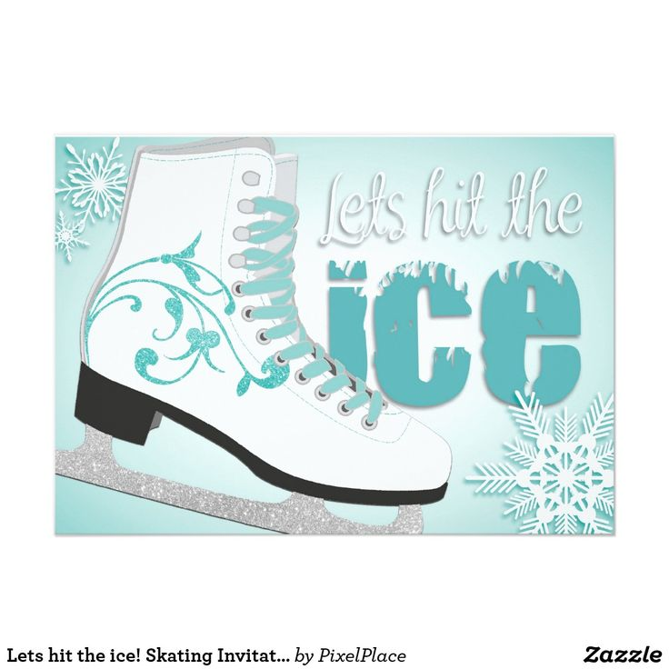 17 best Ice Skating Birthday Party Invitations images on Pinterest ...