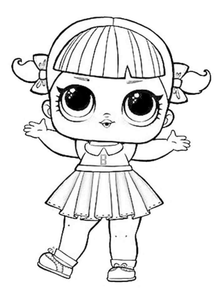 Cheer Captain Lol Dolls Coloring Pages Lol Dolls Doll Drawing Coloring Pages