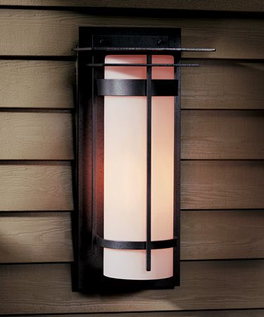 Banded With Top Plate Large Outdoor Sconce   305994 20