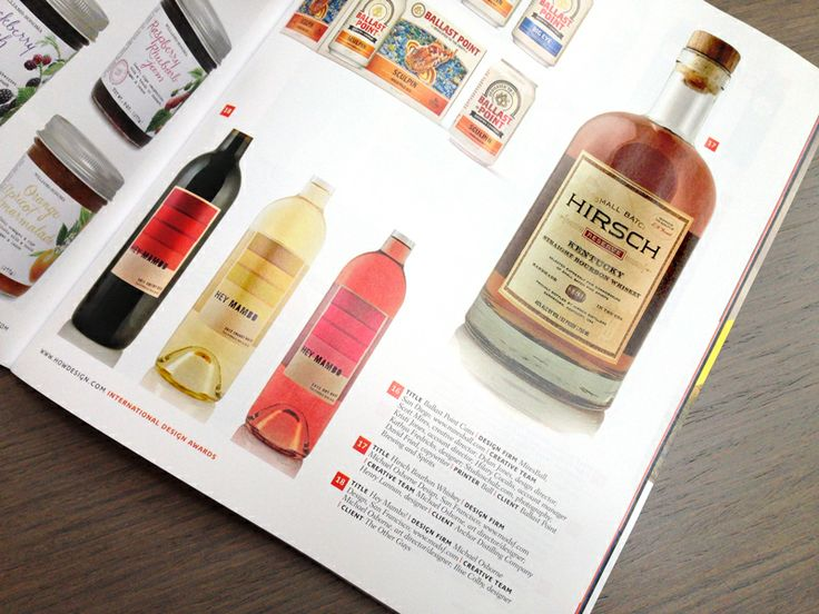 We're so excited our #packagingdesign for Hirsch Straight Bourbon Whiskey and Hey Mambo wine each earned merits for the 2013 #HOWIntlAwards. Thanks @Jan Howard Design for featuring our work in your HOW Design Magazine!