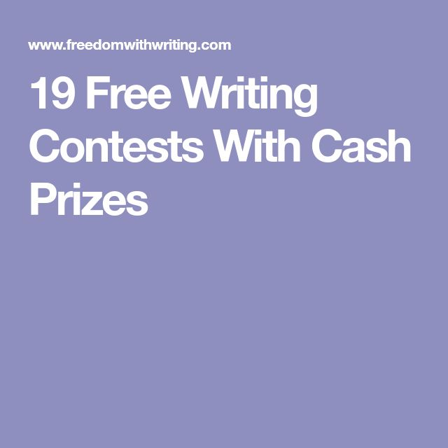 19 Free Writing Contests With Cash Prizes