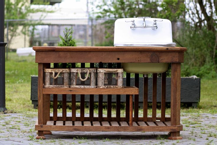 Deep Basin Cast Iron Utility Sink Porcelain Farm Sink Craftsman Reclaimed Wood Mission Kitchen Island Package