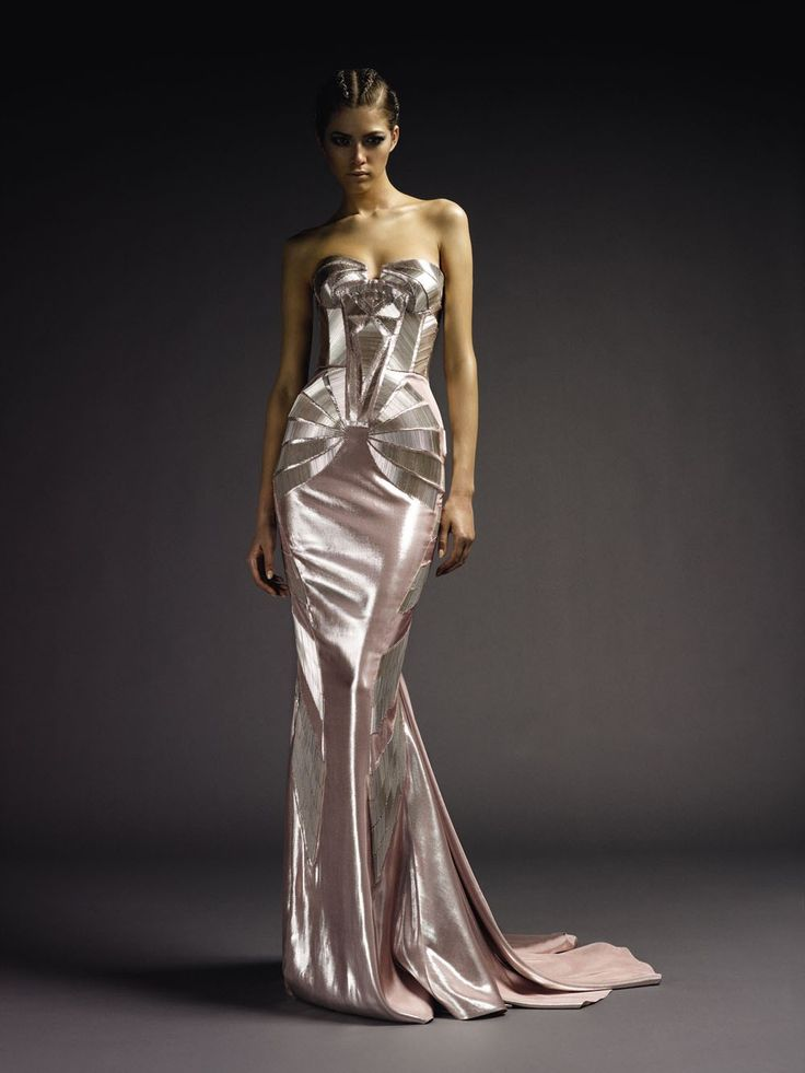 full view of beaded silk satin art deco design from versace atelier f w 2009 2010 bodice also. Black Bedroom Furniture Sets. Home Design Ideas
