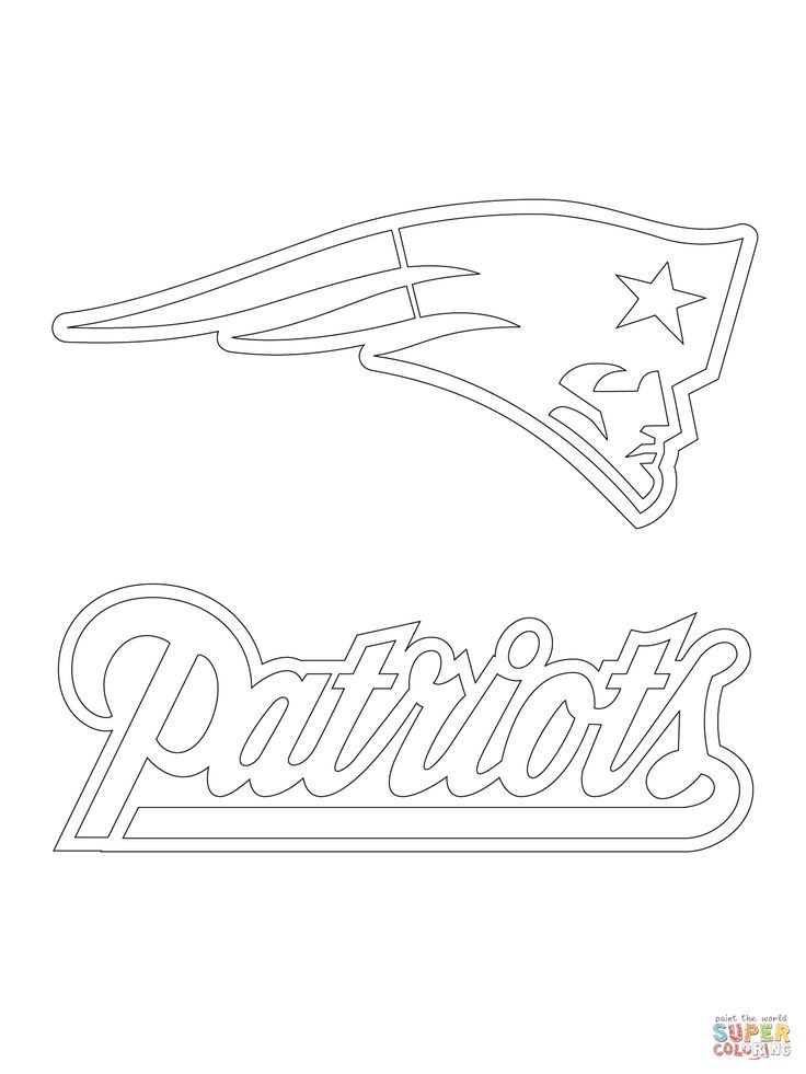 New England Patriots Logo Football Sport Coloring Pages Printable And Book To Print For Free Find More Online Kids Adults