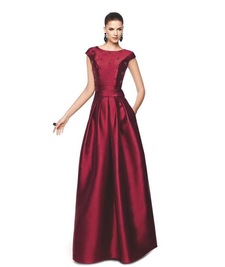 NAOMI - Cocktail dress with short sleeves. Pronovias 2015 | Pronovias