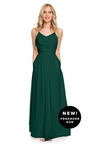 Shop Dove & Dahlia Bridesmaid Dress - Lila in Poly Chiffon at Weddington Way. Find the perfect made-to-order bridesmaid dresses for your bridal party in your favorite color, style and fabric at Weddington Way.