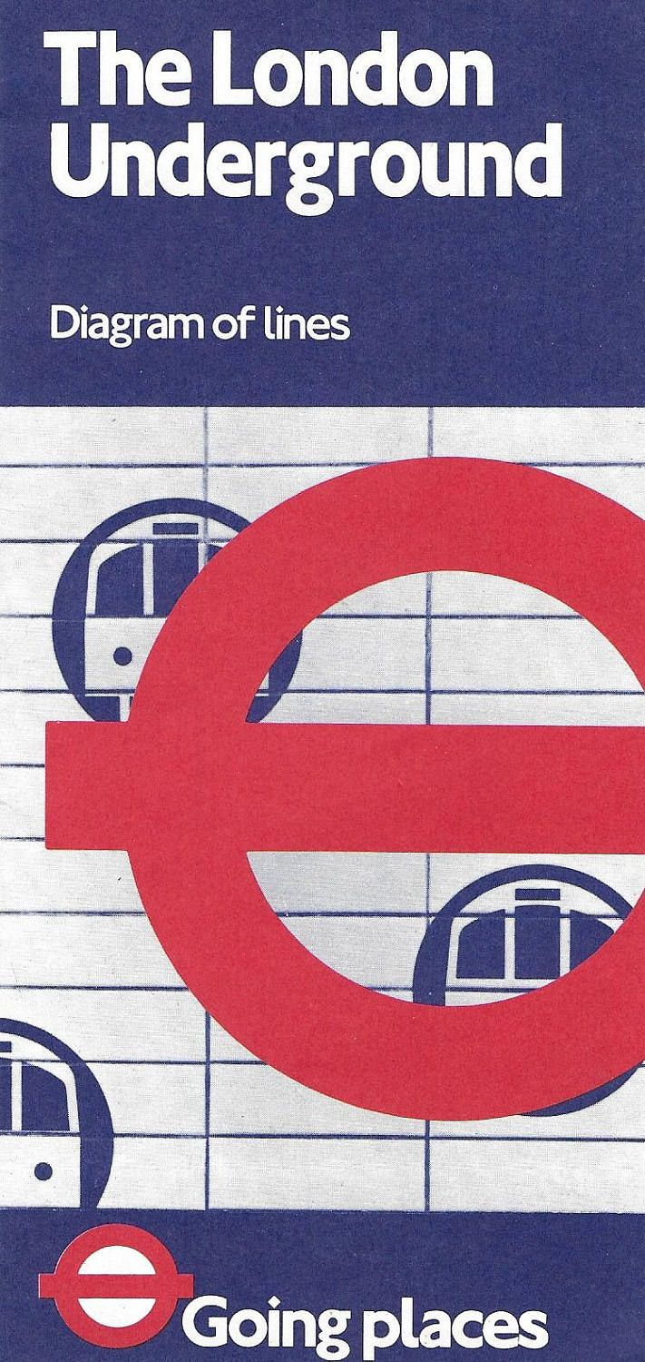 Transport for London Underground map 1980s The