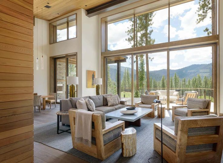 Breathtaking modern mountain retreat with rustic nuances in Lake Tahoe | Modern Dream Home | Pinterest | Home, Mountain homes and House