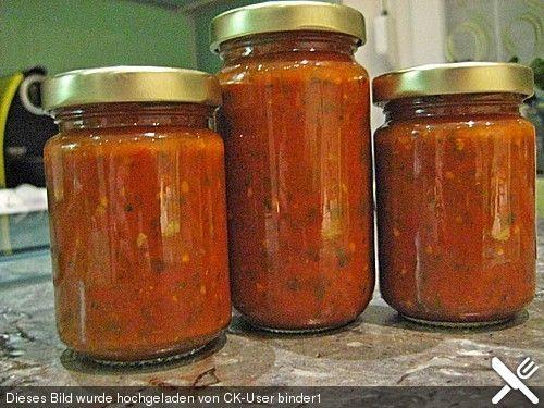 Pasta-Sauce auf Vorrat eingemacht