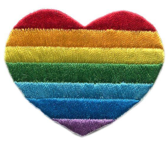 LGBT Lesbiennes Gay bisexuels arc en ciel coeur par smARTpatches