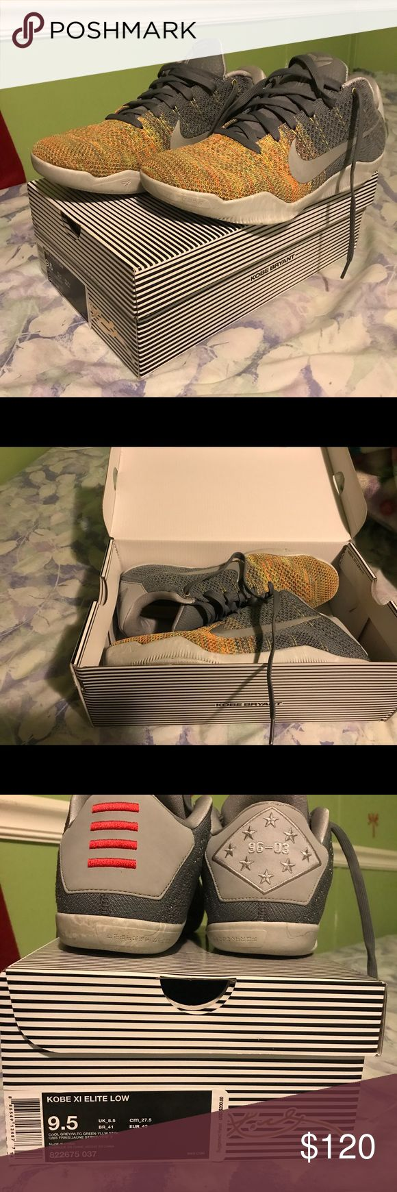 Kobe 11 elite low size 9.5 Asking 120 but will negotiate, great shoes in excellent condition, only worn like twice. Nike Shoes Athletic Shoes