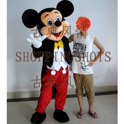 MICKEY MOUSE Mascot Costume Fancy Dress R00264 cartoon adult one size suit