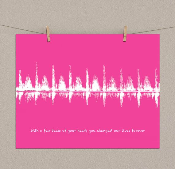 Your Baby's Ultrasound Heartbeat Personalized by ArtsyVoiceprint