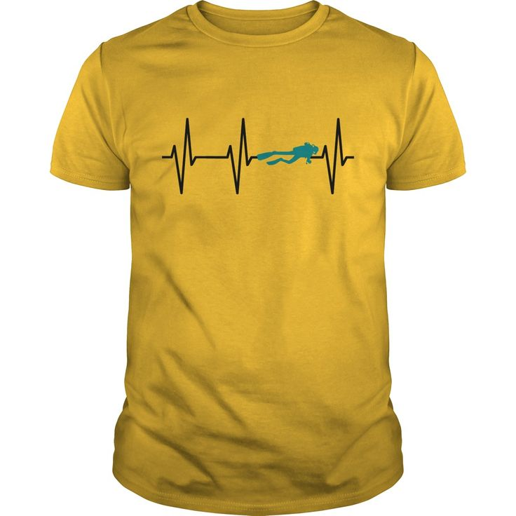 Heartbeat diver scuba diving. Cool, Clever, Funny Outdoor Quotes, Sayings, T-Shirts, Hoodies, Sweatshirts, Tees, Clothing, Coffee Mugs, Gifts.