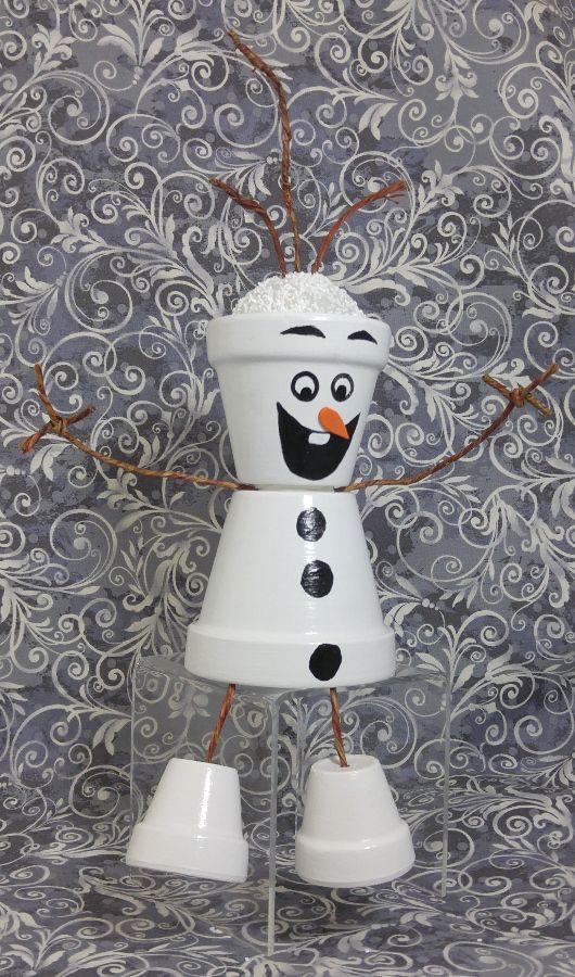 Flower pot Olaf type guy!