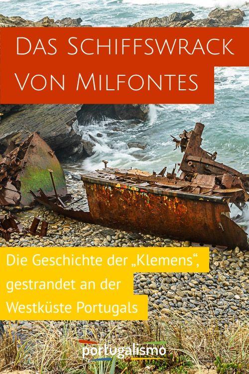 Das Schiffswrack Klemens von Vila Nova de Milfontes - portugalismo