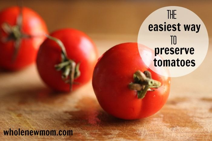Still drowning in tomatoes from your garden or CSA?? Here's the absolute EASIEST way to put them up for later!