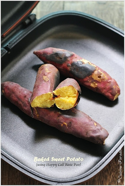 Baked Sweet Potato using Happy Call Pan