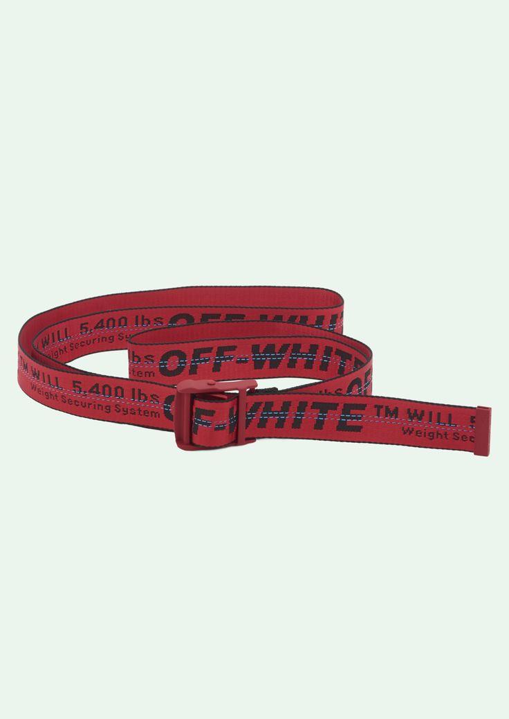 200CM OFF WHITE Tie Down Waist Rubber Transparent Industrial Iron Buckle Belt