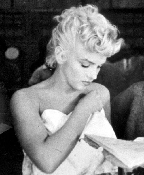 Marilyn behind the scenes of The Seven Year Itch in 1954 by Sam Shaw.