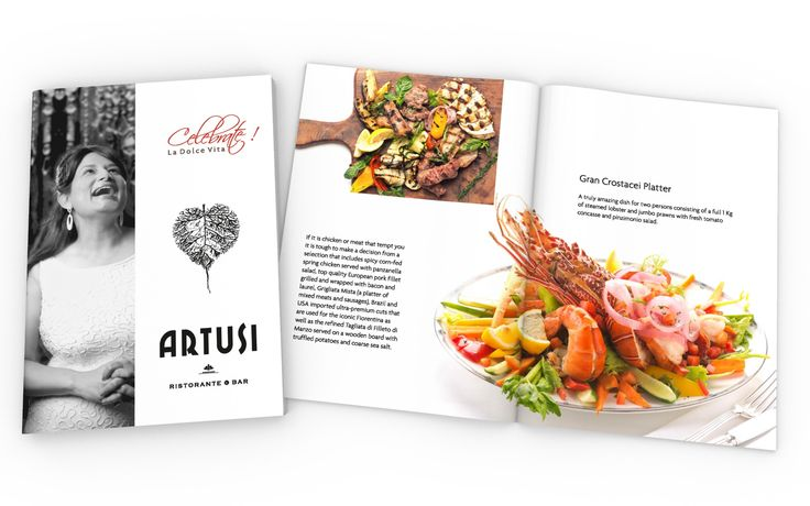 Introductory Booklet Design for ARTUSI RISTORANTE