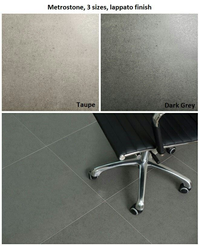 Large format floor tiles great for floors and bathrooms.