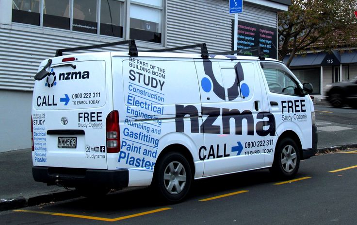 Van full wrap for NZMA by Speedy Signs Newton
