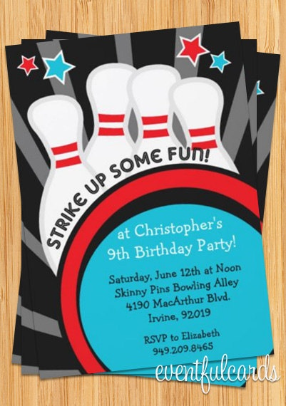 49 best Theme  Bowling Party images on Pinterest Parties - bowling flyer template