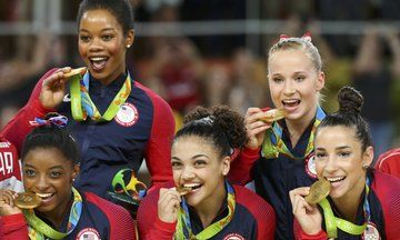 Unstoppable U.S. Women's Gymnastics Team Takes Gold In Rio