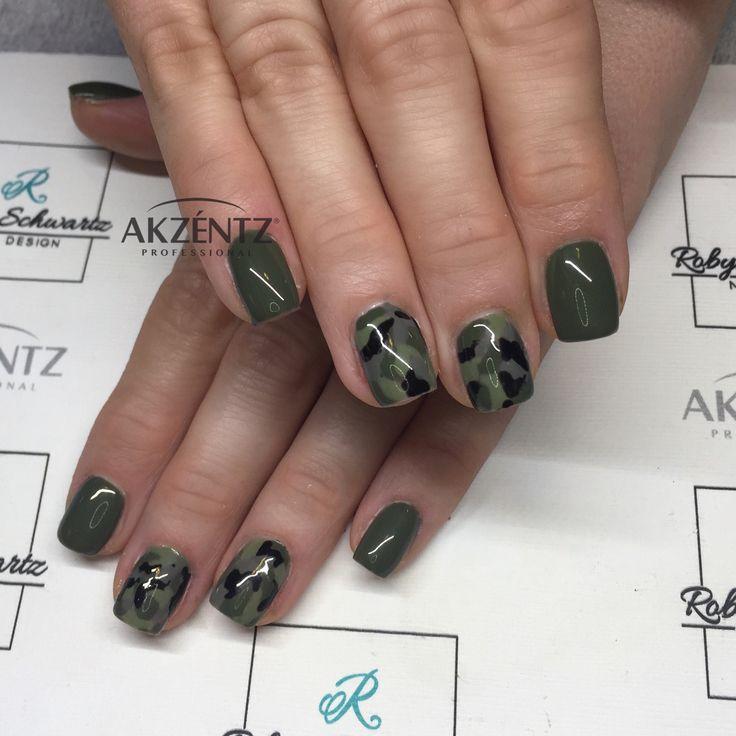 Camo gel nails | Nail Art