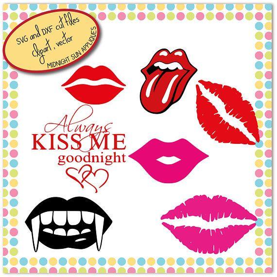 Lips SVGDXFclipart kisses svg mouth svg vampire teeth