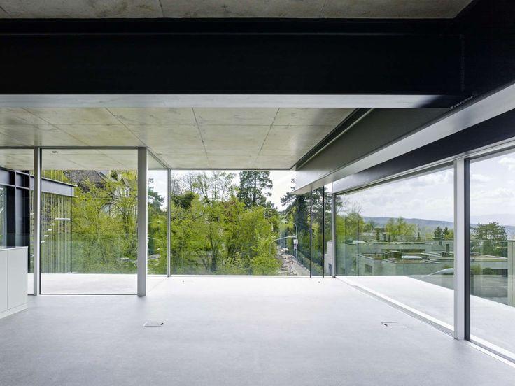 Modern Architecture Zurich christian kerez . house with a missing column . zurich (5