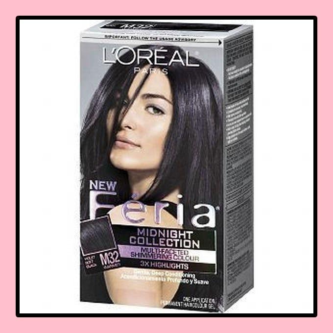 Haarfarbe schwarz violett