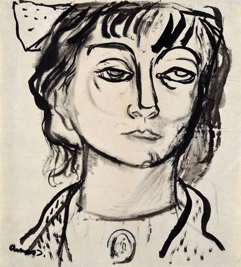 Ámos Imre portréja feleségéről