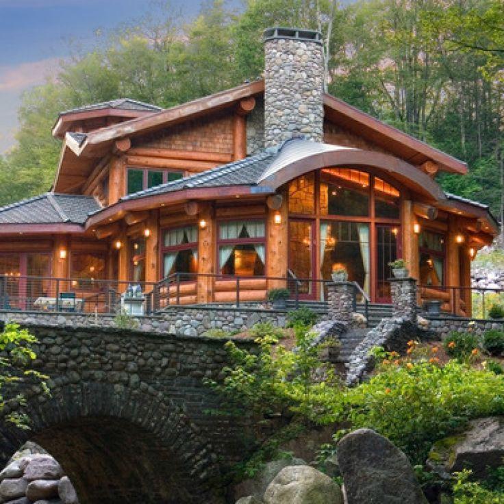 Po et obr zk na t ma rustic home decor na pinterestu 17 for Log homes with stone