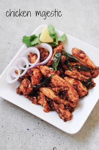 Chicken Majestic - Andhra Style Indian Chicken Starter
