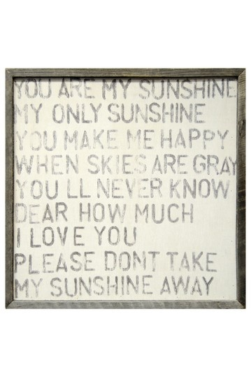 song lyrics or cliches | unruled lettering | 'You Are My Sunshine'