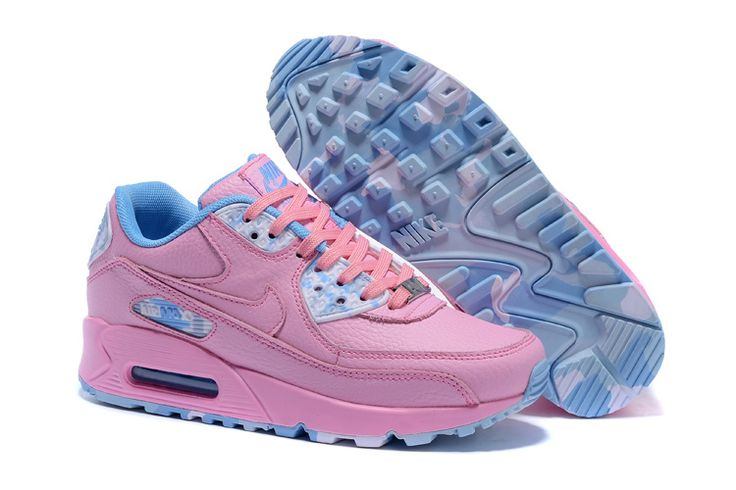 http://www.niketrainersebayuk.com/womens-nike-air-max-90-qs-running-shoes-pink-blue