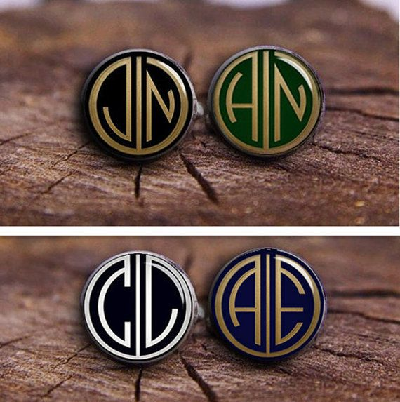 Customize Monogram Cuff Links Men's Jewelry by timemonogram