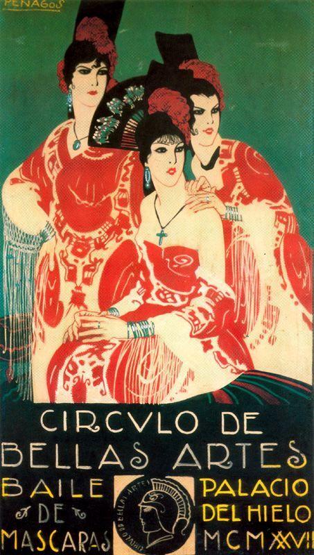 1926 Fancy Dress Dance, Spanish vintage poster