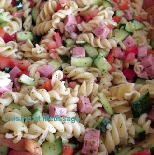 Salade de Pâtes au Jambon #salade #pâtes